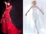 Suknie ślubne, inspiracje - Anioły i Demony