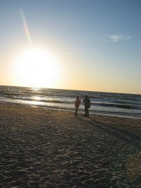 Morze, Bałtyk - zachód słońca
